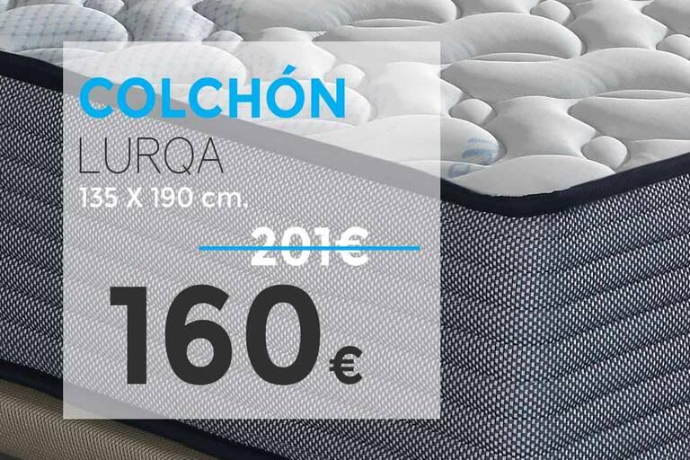 Ofertas en colchones 20 % de descuento. Modelo Outlet Lurqa. Tienda online Outlet del Colchón.