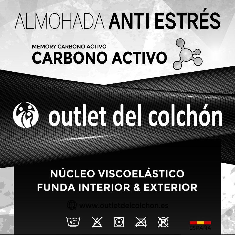 Almohada Anti Estrés y Núcleo de viscoelástica 70cm 90cm 105cm 135cm 150cmoutletdelcolchon.es