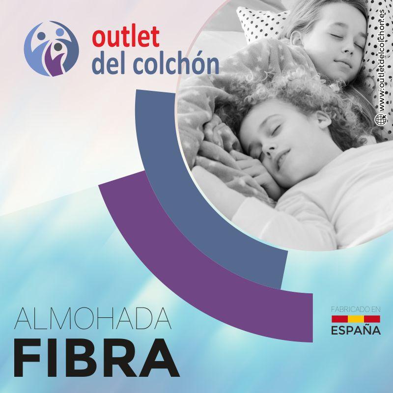 Almohada de Fibra outlet medidas 70cm, 90cm, 105cm, 135cm, 150cm outletdelcolchon.es