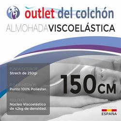Almohada Viscoelástica de Gran Adaptabilidad medidas 70cm, 90cm, 105cm, 135cm, 150cm outletdelcolchon.es