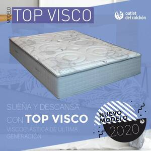 colchón viscoelástico Top Visco Outlet del colchón